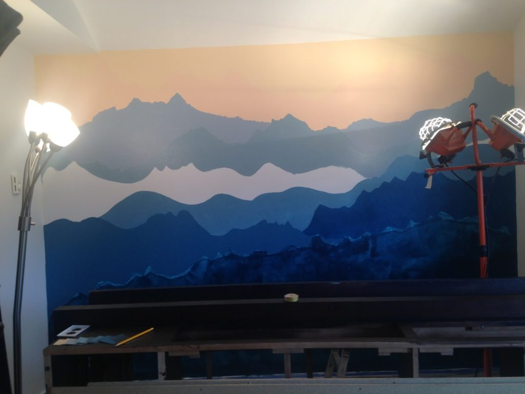 How To Paint A Mountain Mural Occasionally Epic